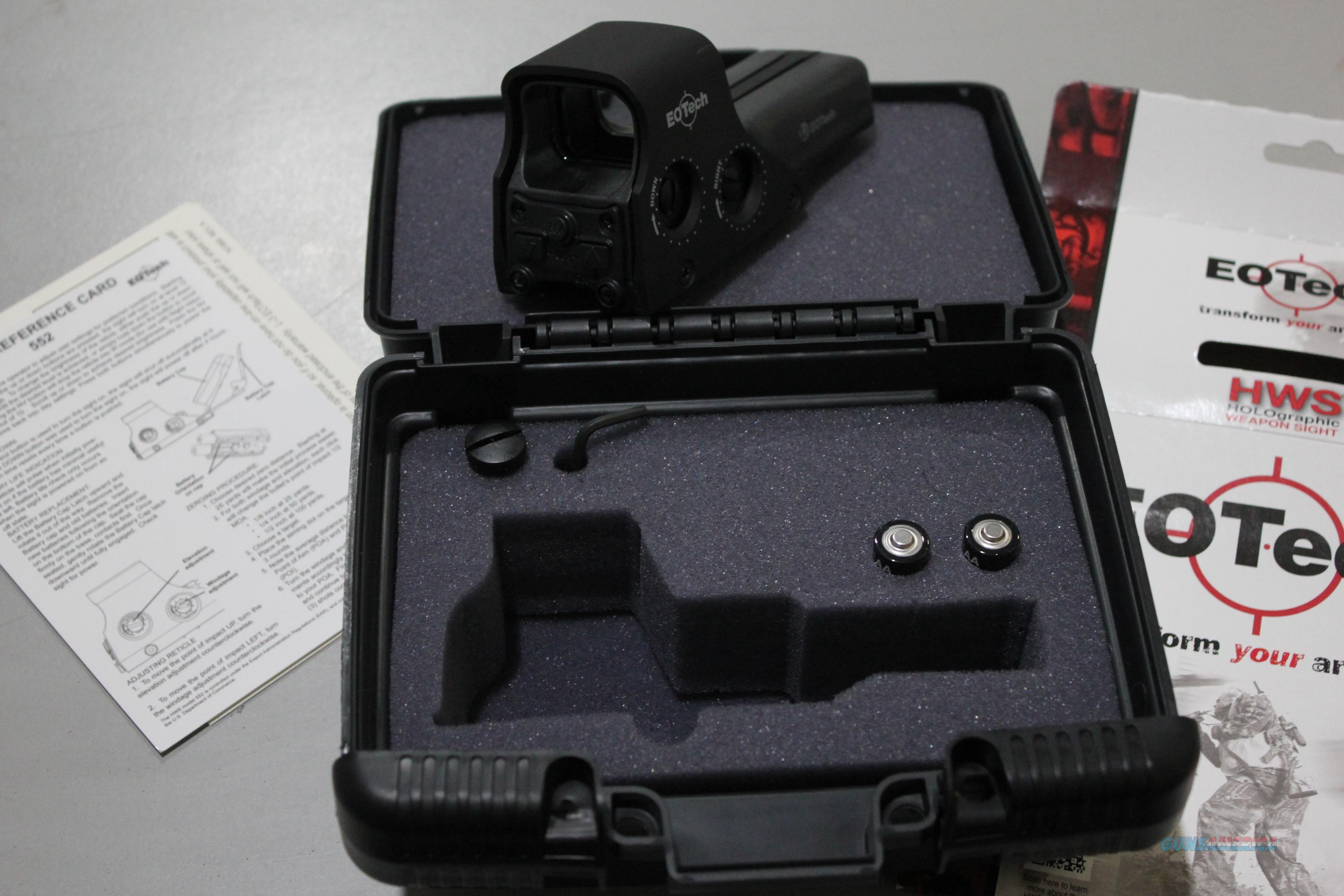 New EOTech Holographic sight model 552A with FREE Freight  Non-Guns > Scopes/Mounts/Rings & Optics > Tactical Scopes > Other Head-Up Optics
