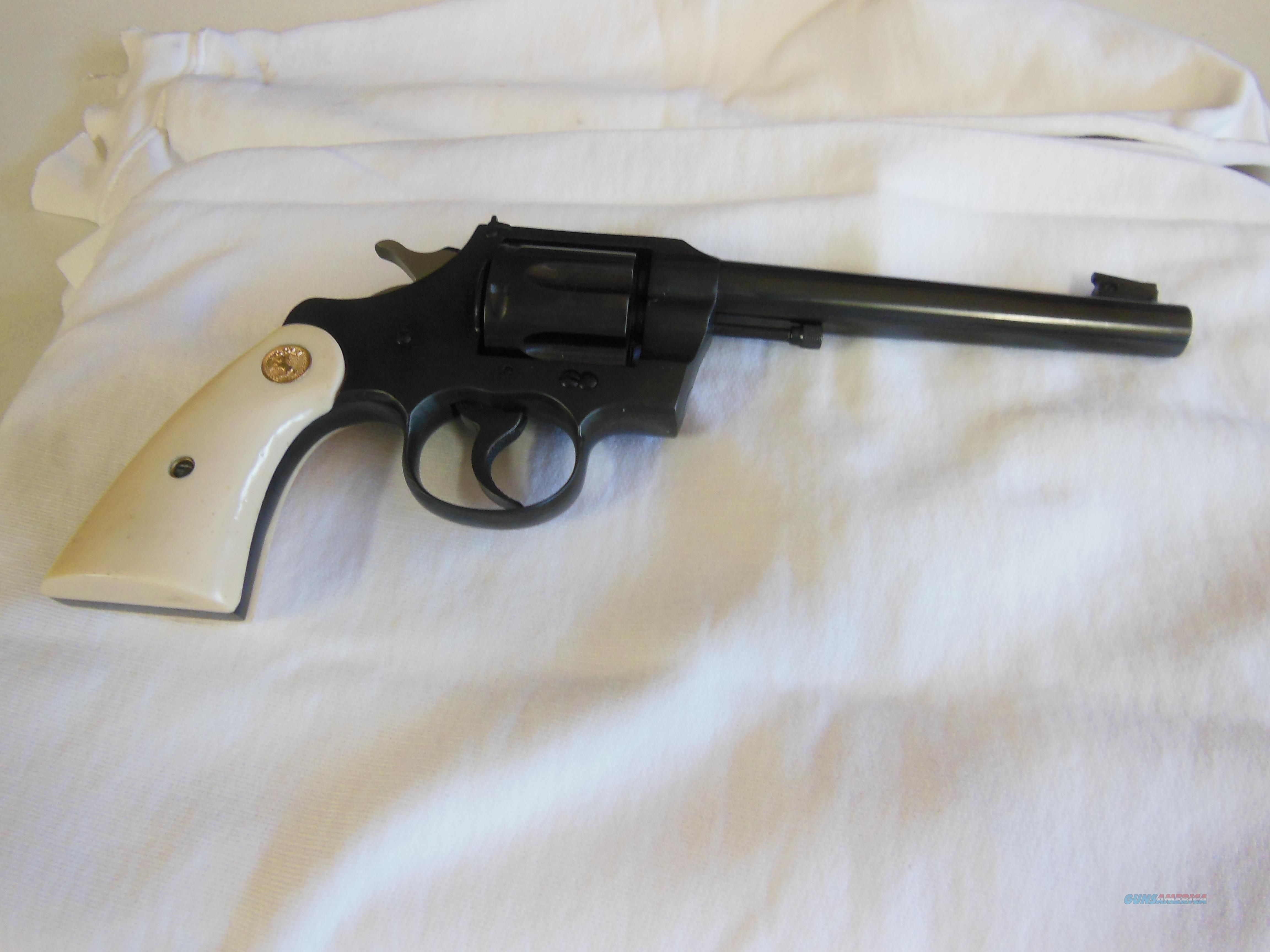 "Colt officers 38 special 5"" heavy tapered barrel  Guns > Pistols > Colt Double Action Revolvers- Modern"