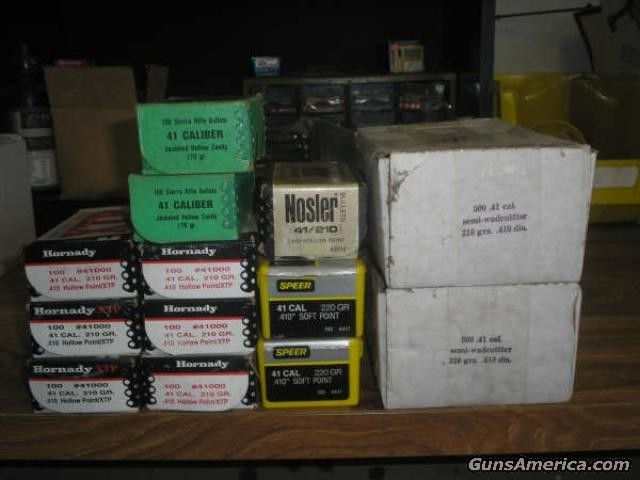.41 Bullets 2000 rds Various  Non-Guns > Reloading > Components