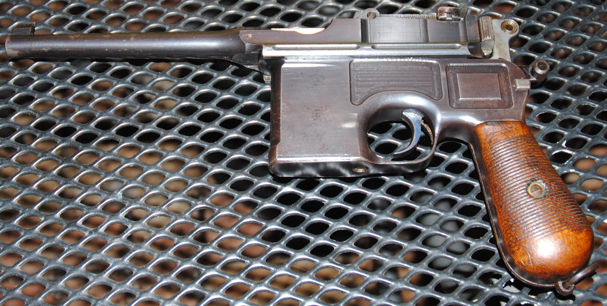 Broomhandle Mauser with matching wood stock  Guns > Pistols > Mauser Pistols