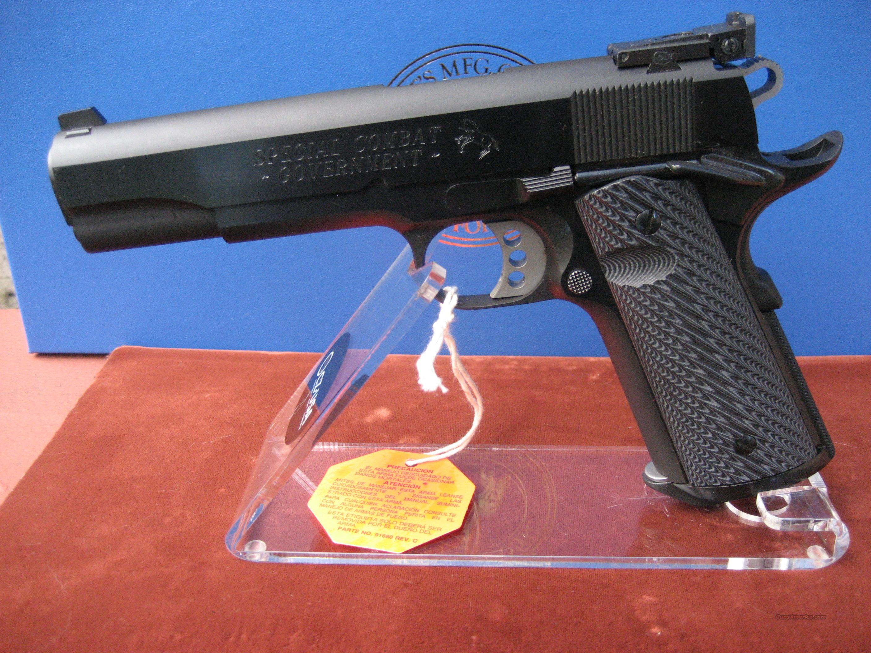 COLT 45ACP SPECIAL COMBAT GOVERNMENT MODEL 01990CM   Guns > Pistols > Colt Automatic Pistols (1911 & Var)