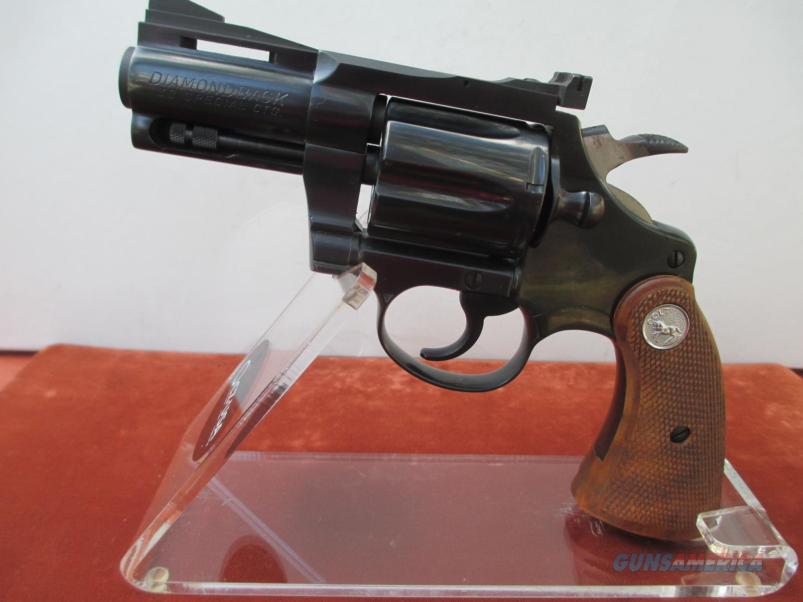 "COLT BLUE 2 1/2"" DIAMONDBACK 38 SPECIAL  Guns > Pistols > Colt Double Action Revolvers- Modern"