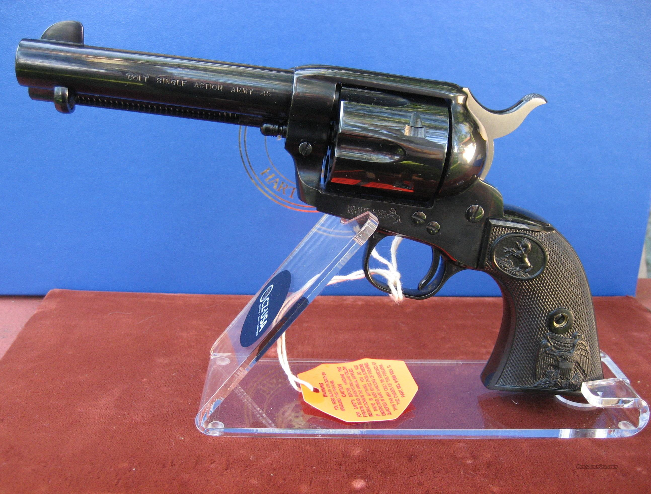 "COLT FULL BLUE 45LC SAA WITH 4 3/4"" BARREL   Guns > Pistols > Colt Single Action Revolvers - 3rd Gen."