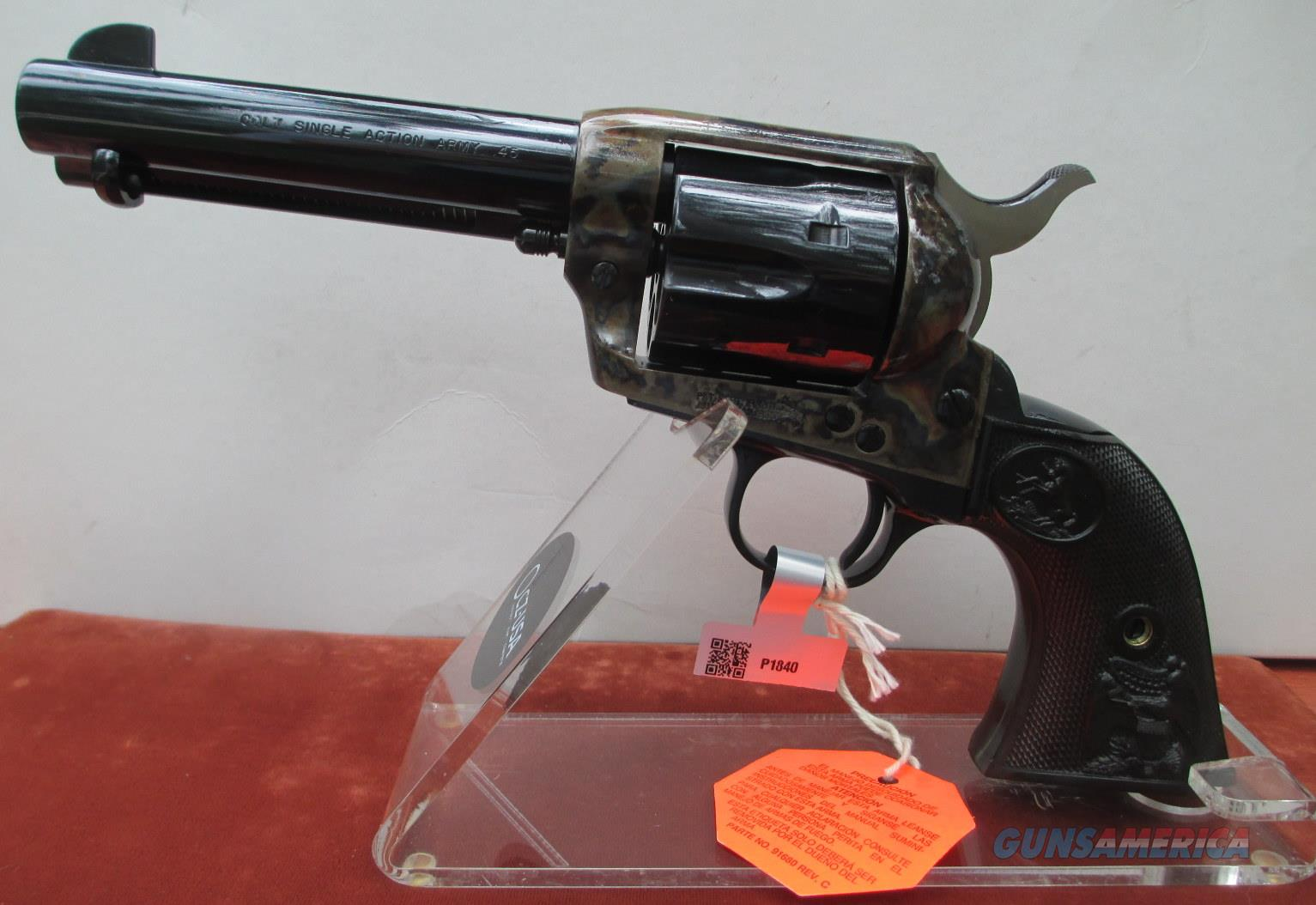 "COLT SAA BLUE/CASE COLORED 45 LC WITH 4 3/4"" BARREL  Guns > Pistols > Colt Single Action Revolvers - 3rd Gen."