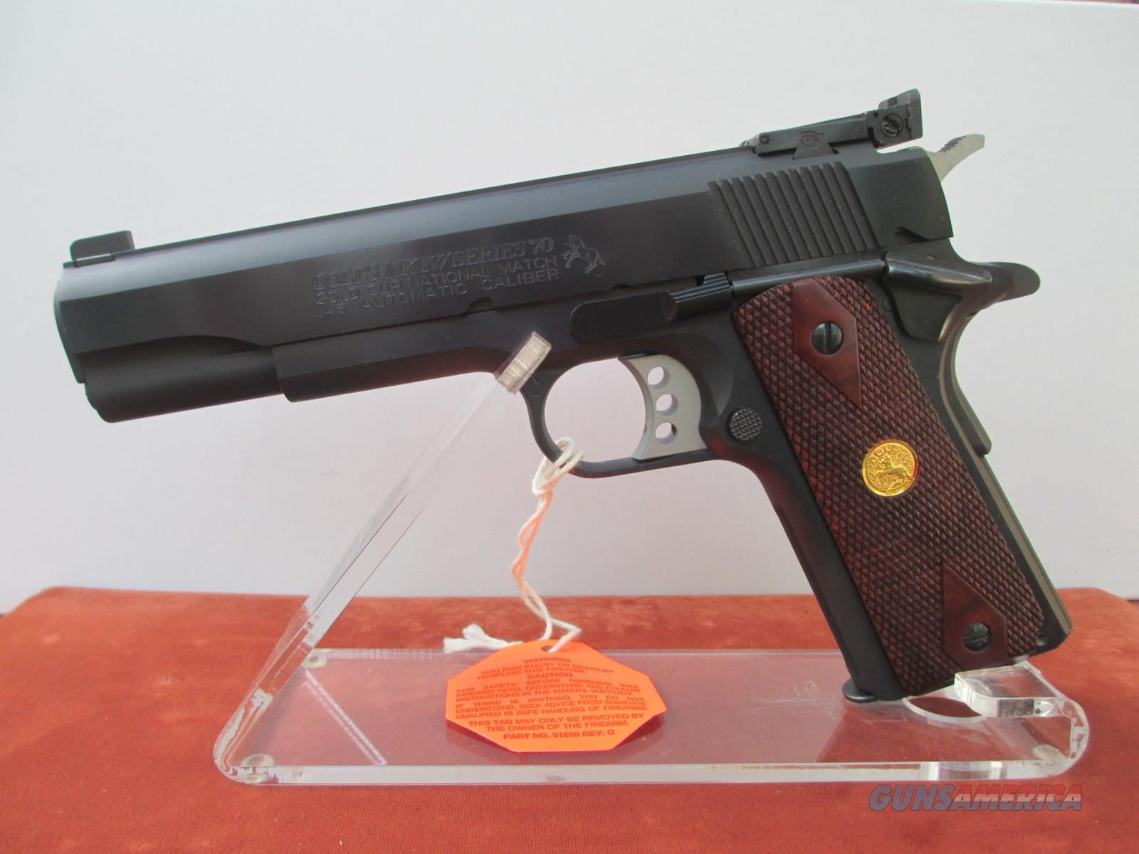 COLT SERIES 70 GOLD CUP NATIONAL MATCH  Guns > Pistols > Colt Automatic Pistols (1911 & Var)