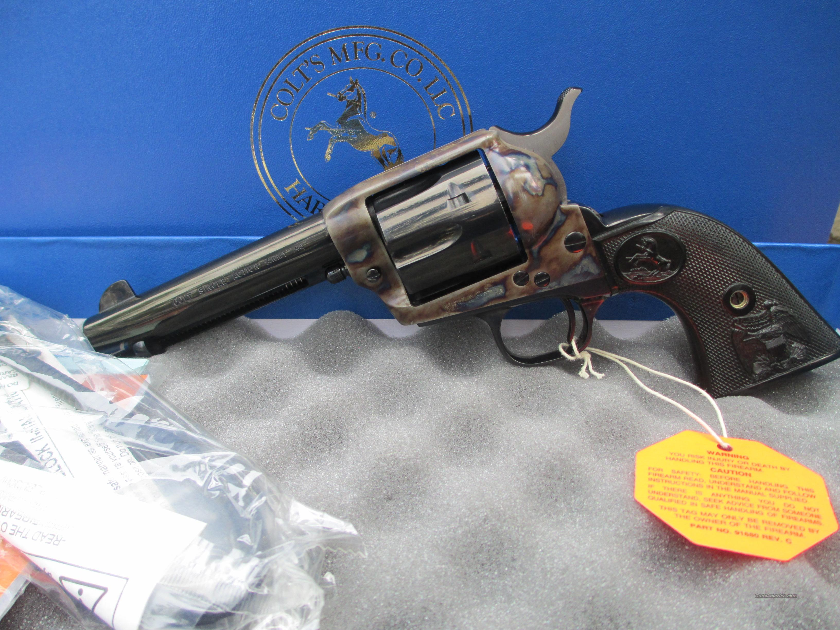 "COLT BLUE & CASE COLOR SAA 45LC 4 3/4 "" BARREL  Guns > Pistols > Colt Single Action Revolvers - 3rd Gen."