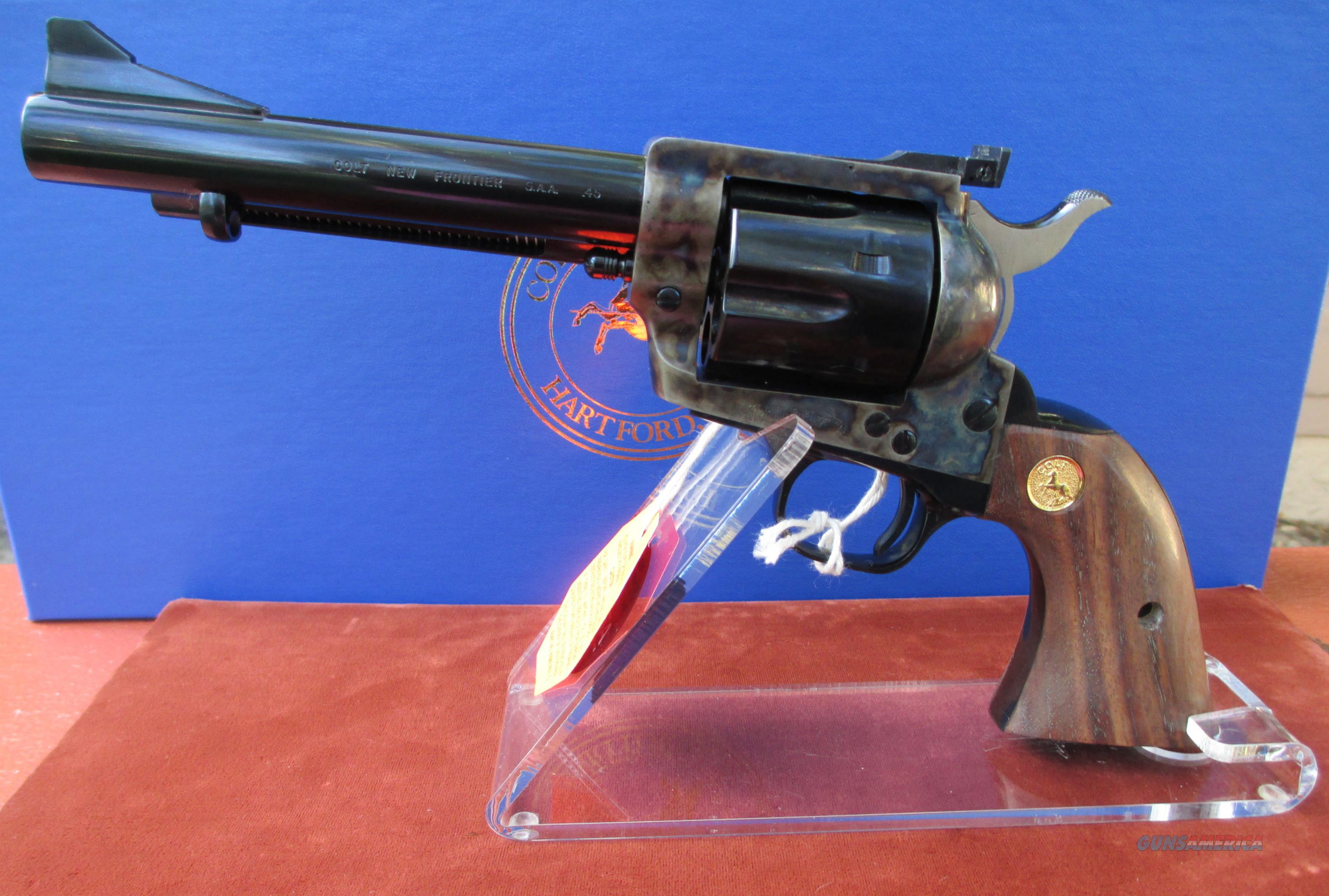 "COLT NEW FRONTIER SAA 45LC WITH 5 1/2"" BARREL.  Guns > Pistols > Colt Single Action Revolvers - 3rd Gen."