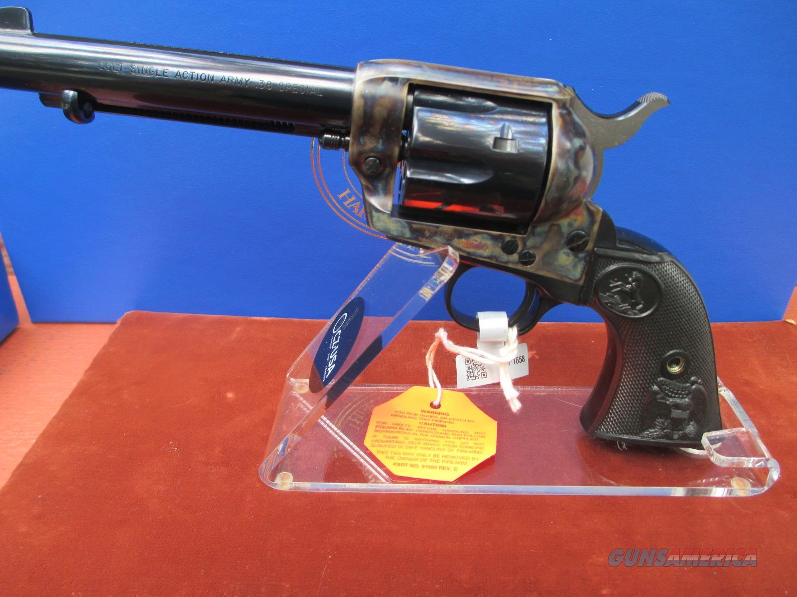 "COLT SAA 38 SPECIAL BLUE/CASE COLORED 5 1/2"" BARREL  Guns > Pistols > Colt Single Action Revolvers - 3rd Gen."