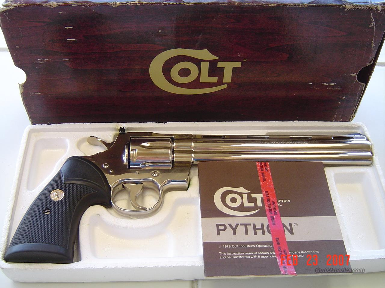 COLT NICKEL PYTHON TARGET 38 SPECIAL  Guns > Pistols > Colt Double Action Revolvers- Modern