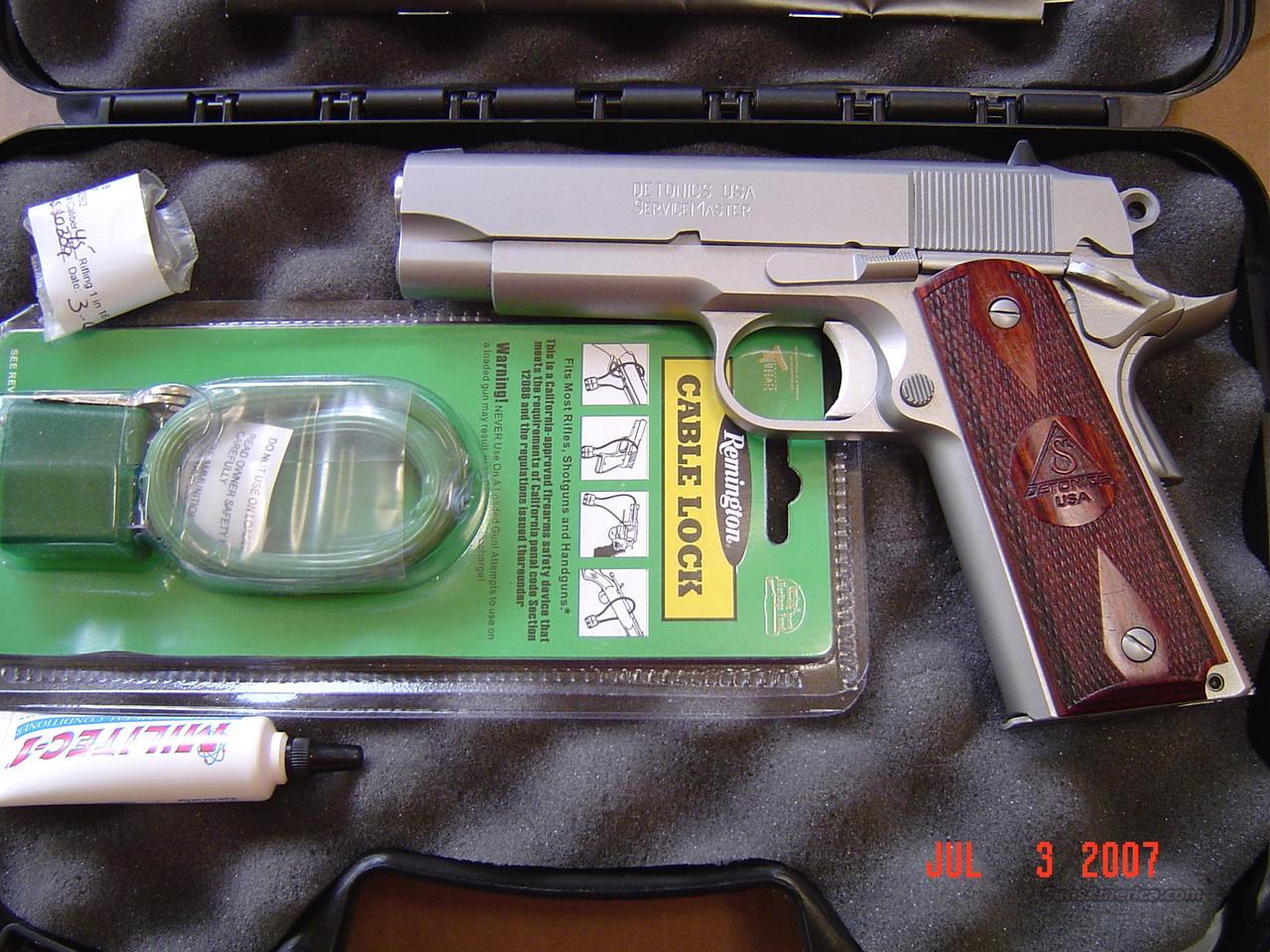 DETONICS 1911 SERVICE MASTER  Guns > Pistols > 1911 Pistol Copies (non-Colt)