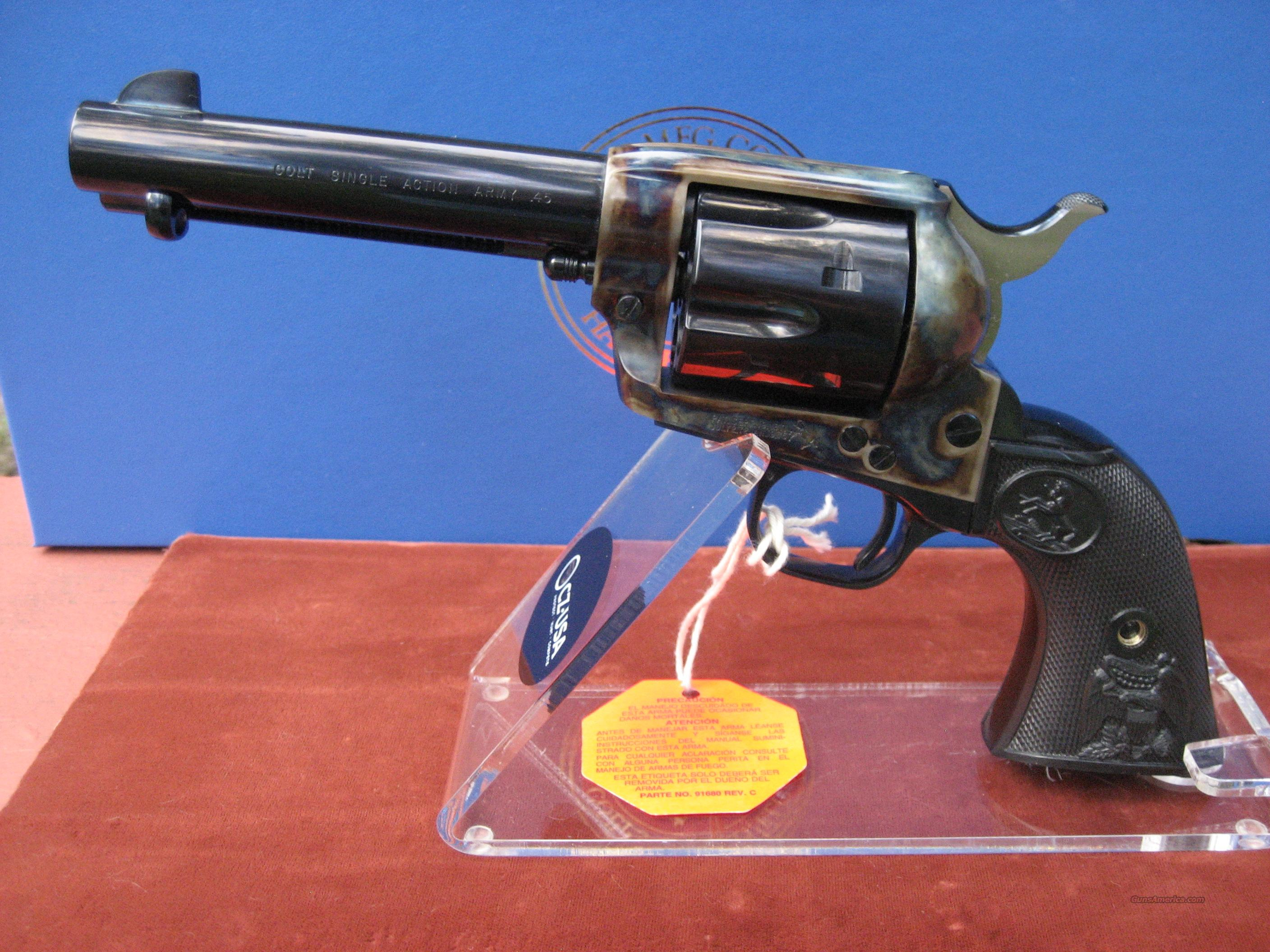 "COLT SAA 4 3/4"" BLUE AND CASE COLORED 45LC  Guns > Pistols > Colt Single Action Revolvers - 3rd Gen."