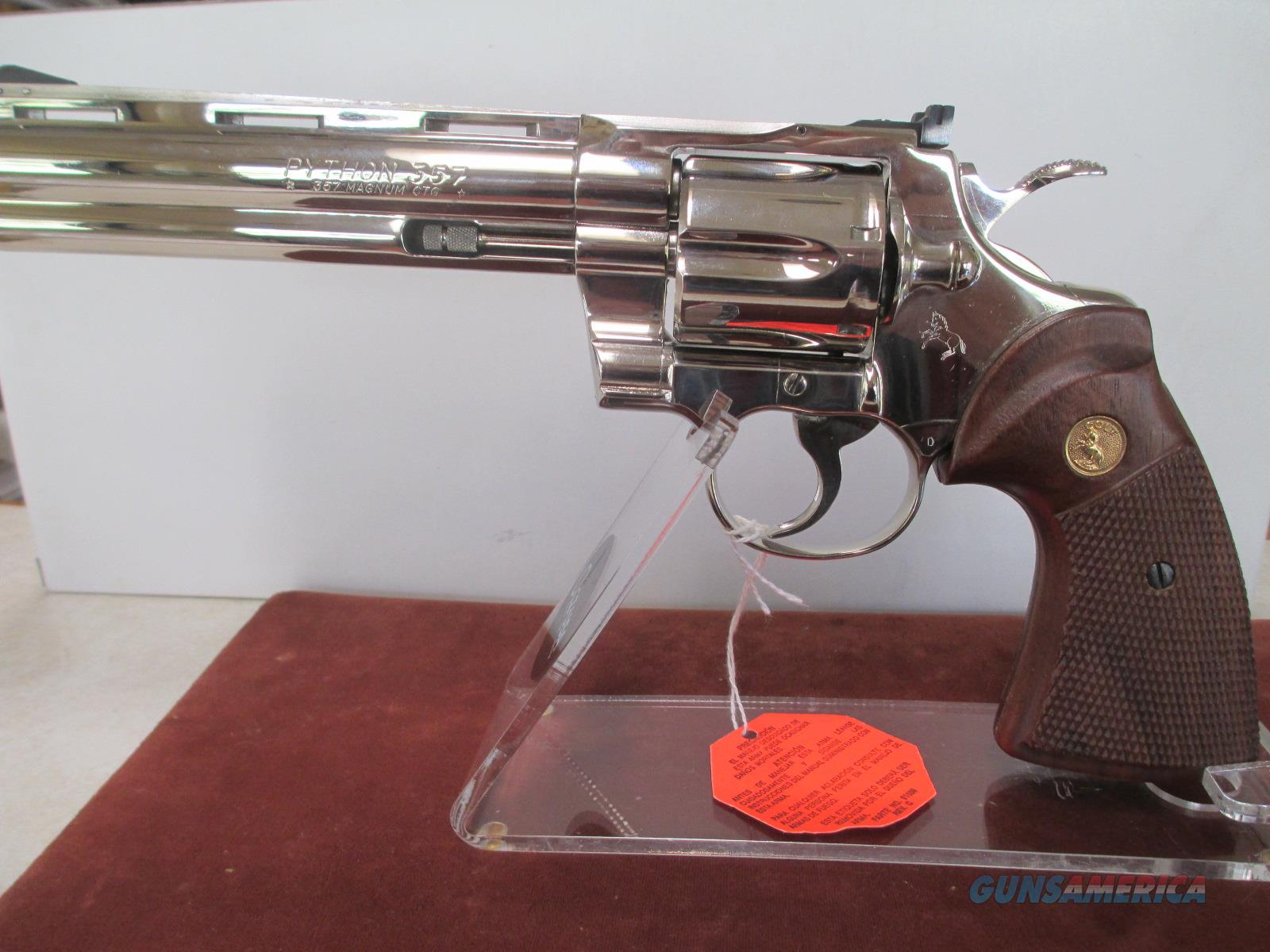 COLT NIB 6 INCH NICKEL PYTHON  Guns > Pistols > Colt Double Action Revolvers- Modern