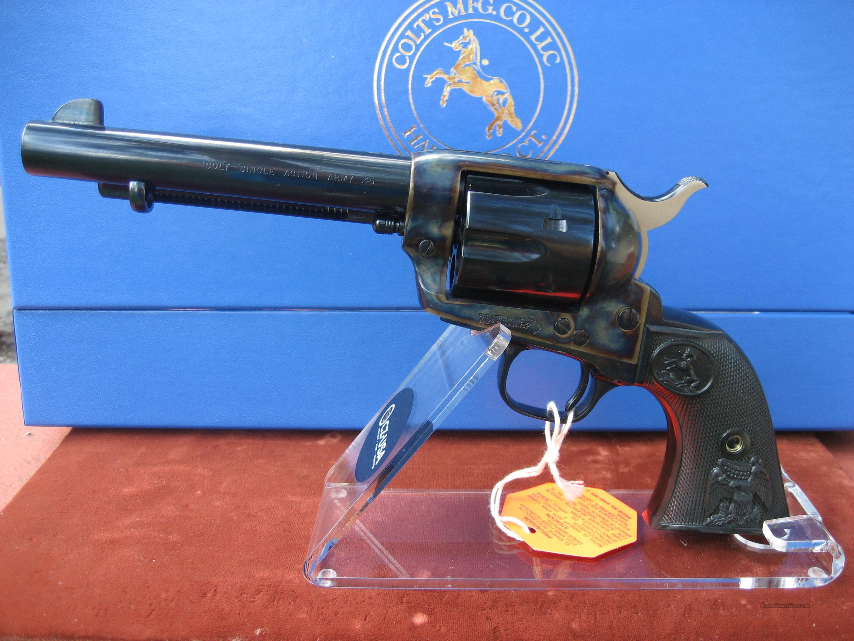 "COLT SAA 5 1/2"" BLUE AND CASE COLORED 45LC  Guns > Pistols > Colt Single Action Revolvers - 3rd Gen."