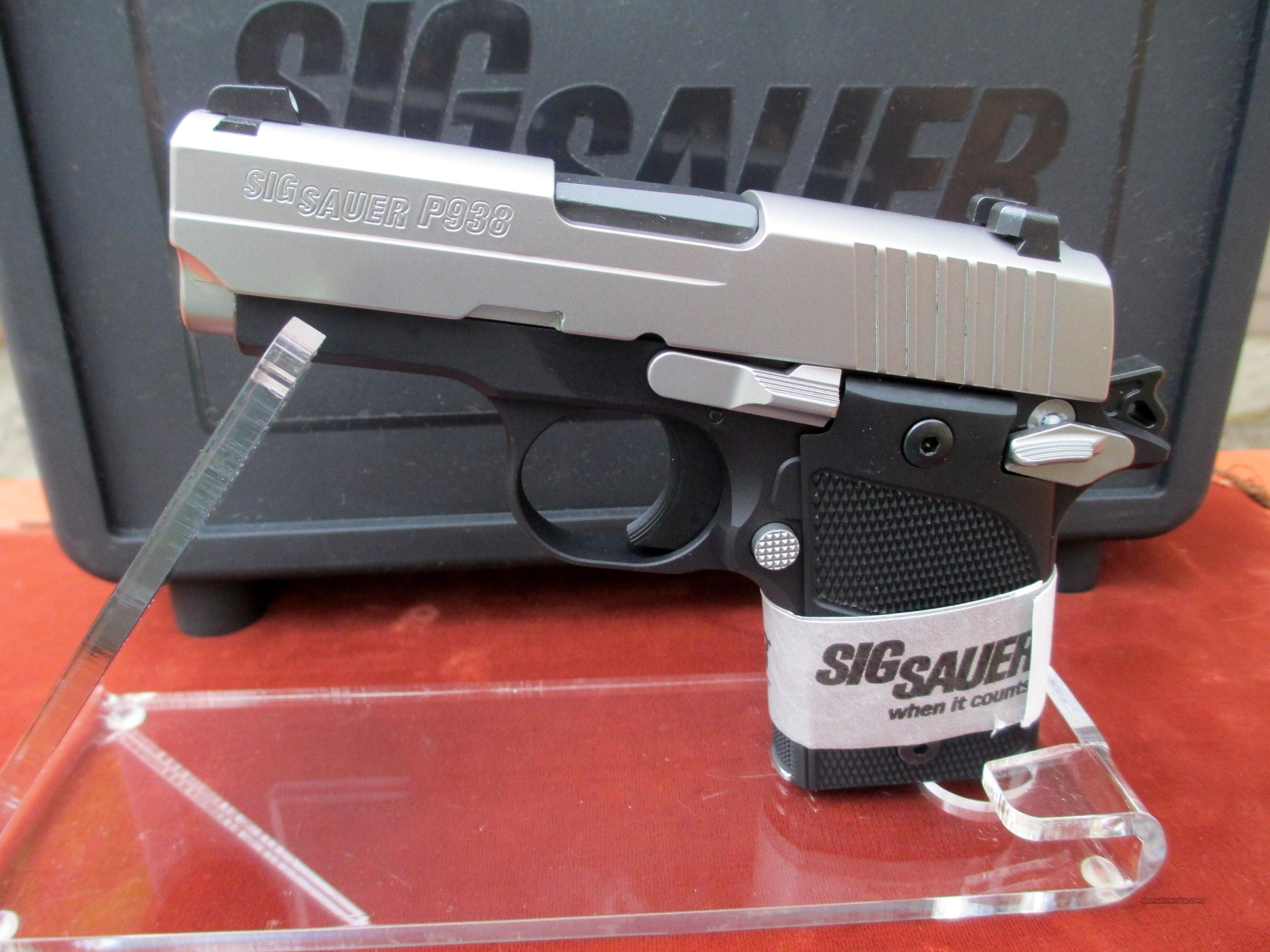 SIG SAUER P938-9-AG IN 9MM WITH ALUMINUM GRIPS REDUCED PRICE  Guns > Pistols > Sig - Sauer/Sigarms Pistols > Other