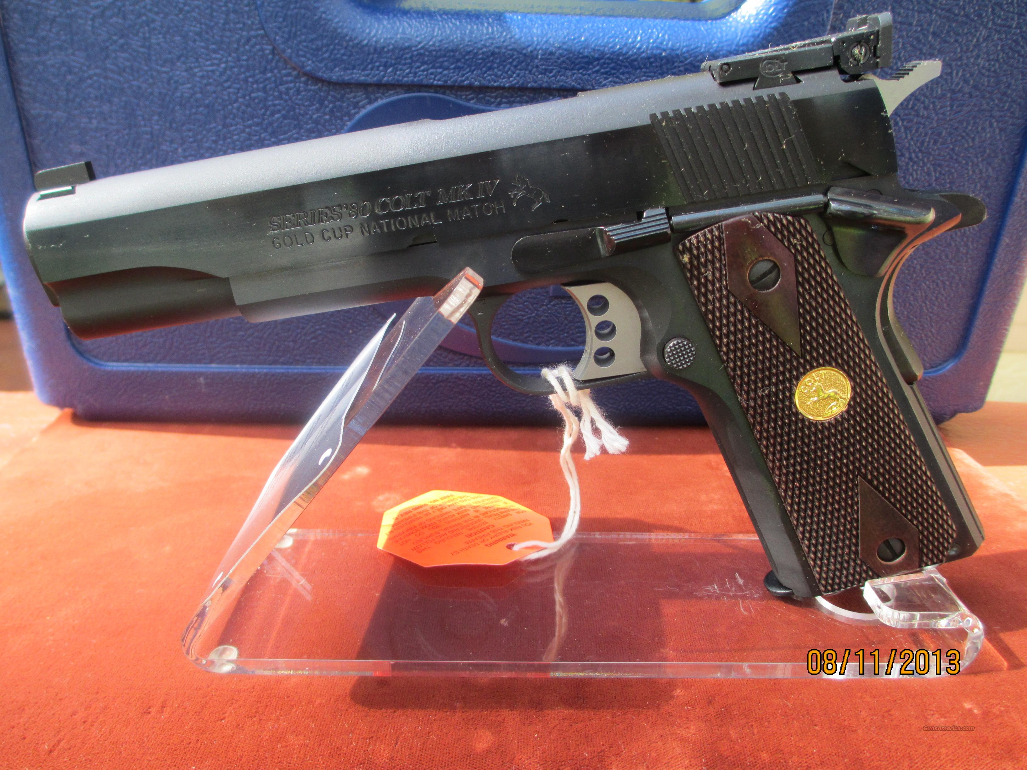 COLT GOLD CUP NATIONAL MATCH O5870NM  Guns > Pistols > Colt Automatic Pistols (1911 & Var)
