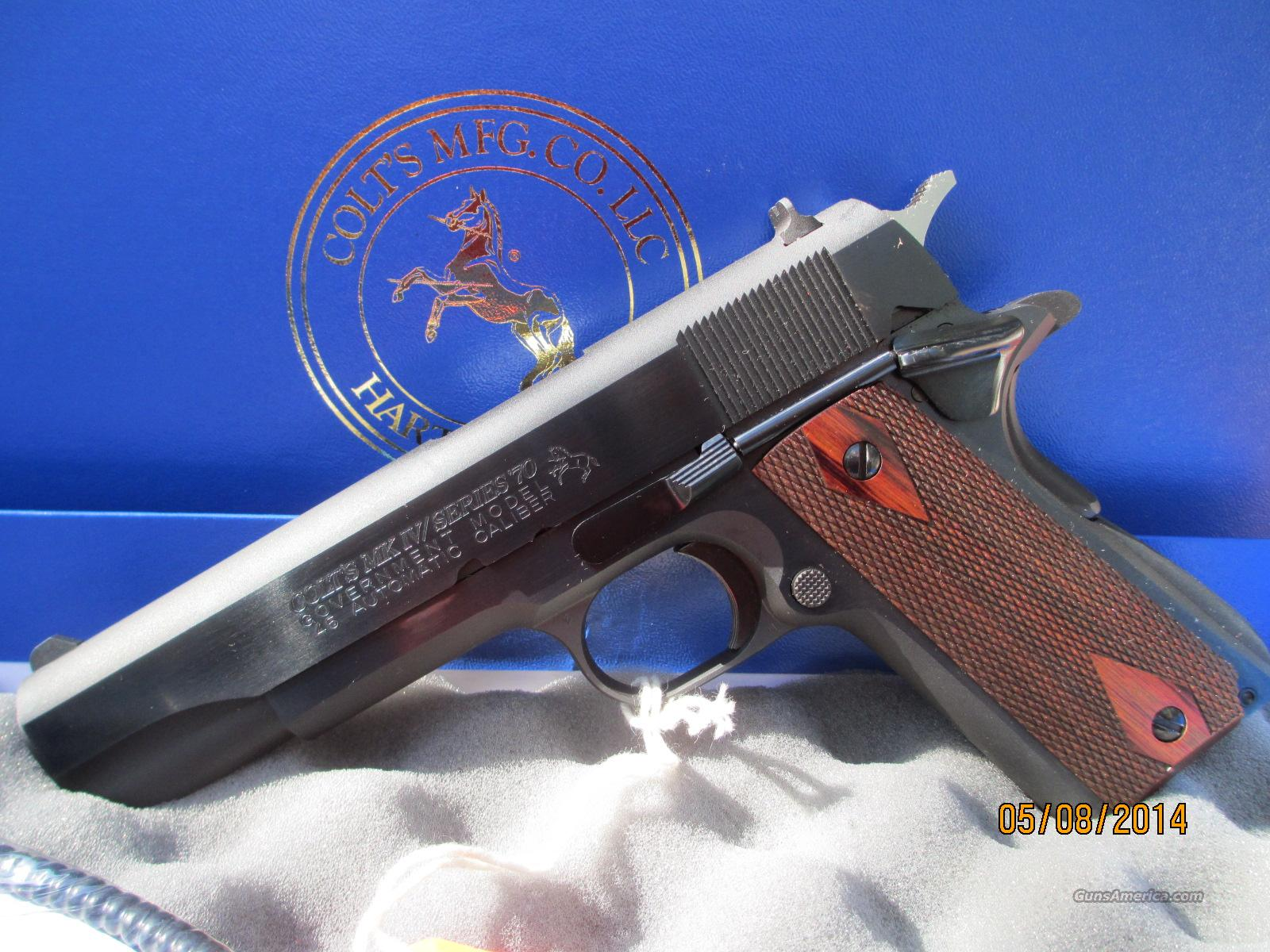 COLT BLUE SERIES 70 O1970A1CS PAIR IN SEQUENCE  Guns > Pistols > Colt Automatic Pistols (1911 & Var)