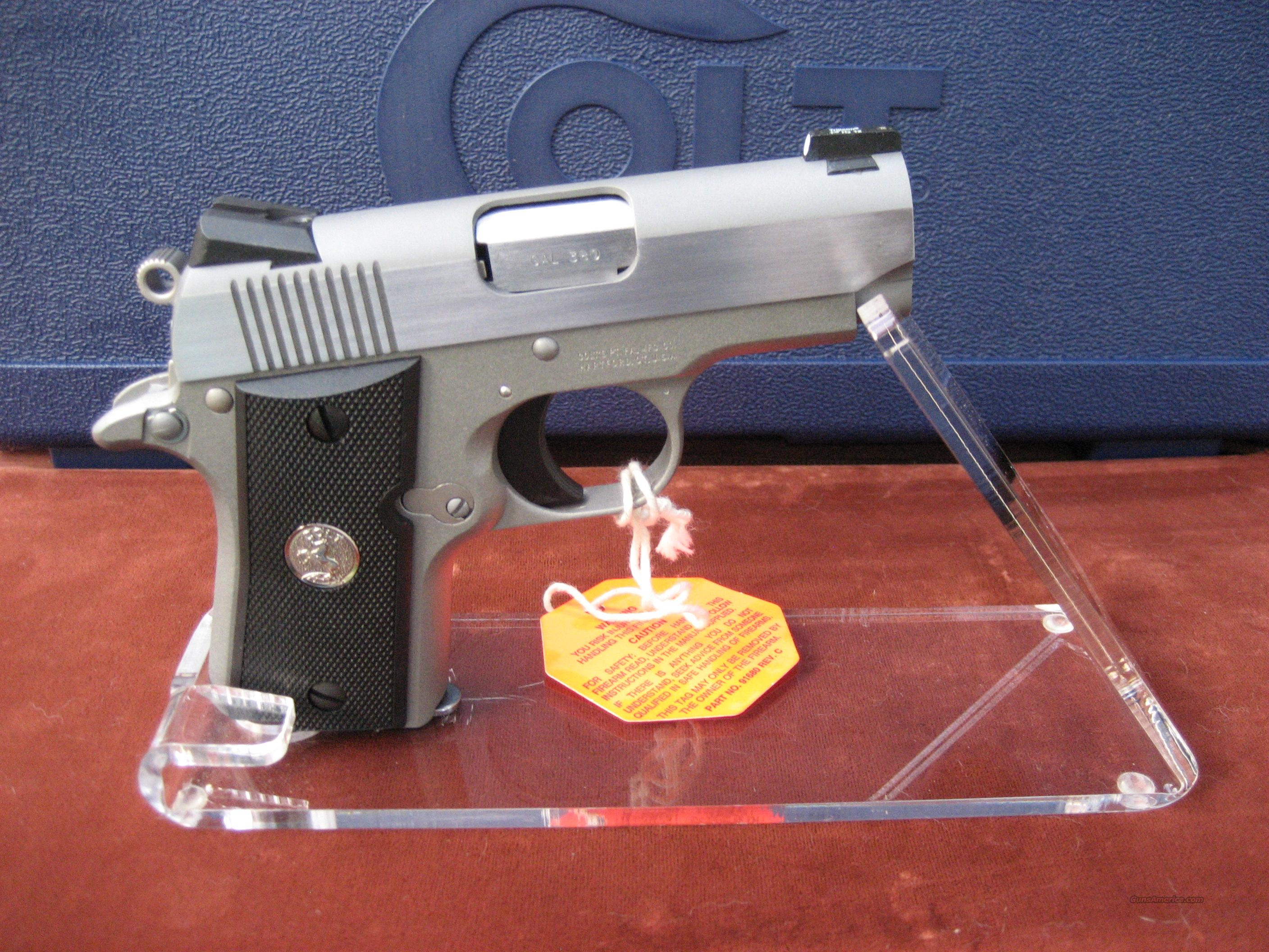 COLT CUSTOM SHOP MUSTANG WITH NOVAK FRONT NIGHT SITE  Guns > Pistols > Colt Automatic Pistols (.25, .32, & .380 cal)