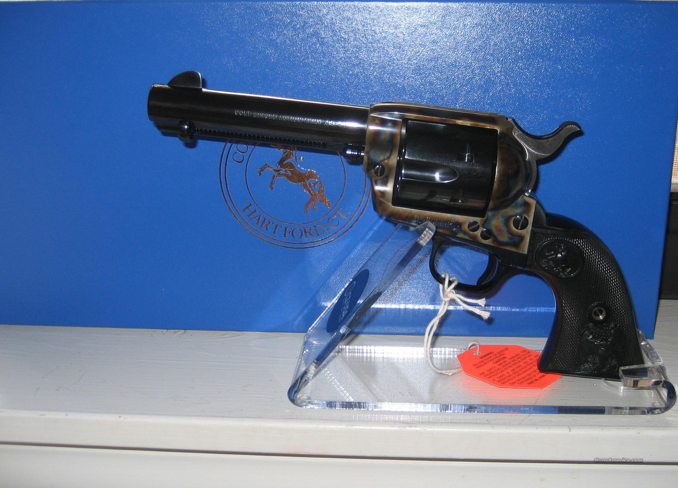 "COLT BLUE AND C/C SAA IN 357 WITH 4 3/4"" BARREL  Guns > Pistols > Colt Single Action Revolvers - 3rd Gen."