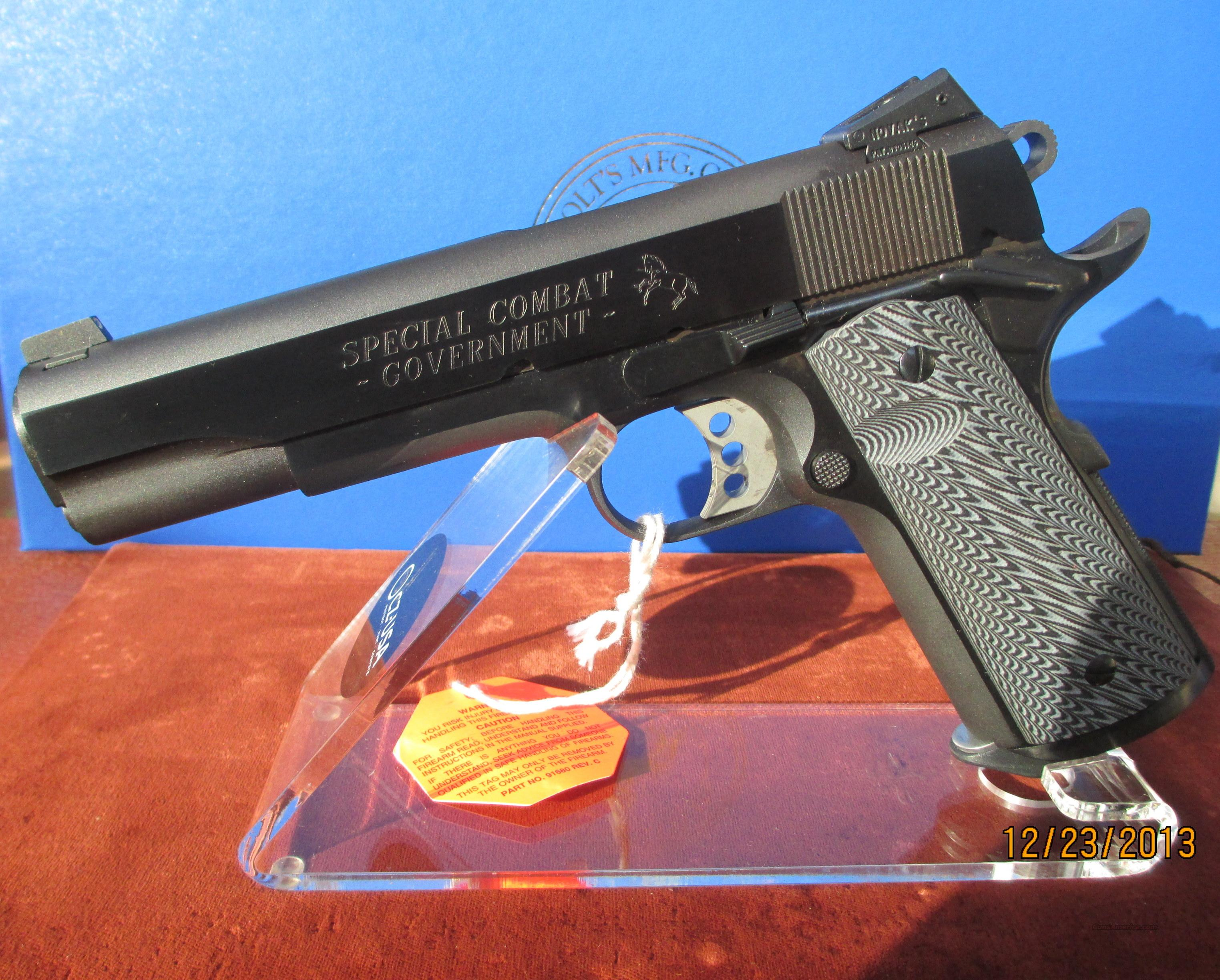 COLT O1970CY SPECIAL COMBAT GOVERNMENT CARRY MODEL  Guns > Pistols > Colt Automatic Pistols (1911 & Var)