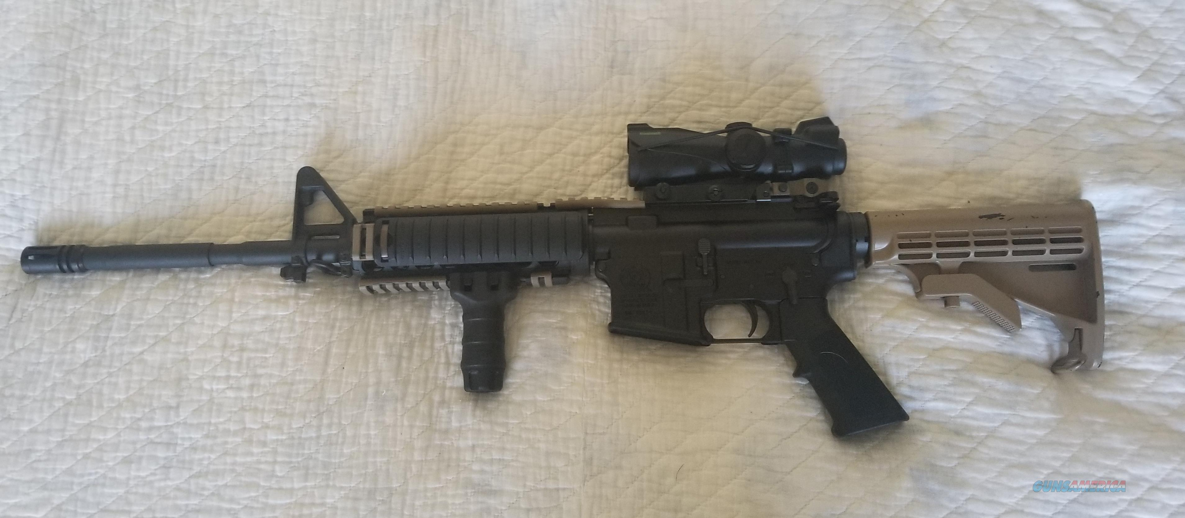 S&W MP15 .223 AR15 rifle with scope, quad rail and foregrip  Guns > Rifles > Smith & Wesson Rifles > M&P