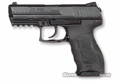 Heckler Koch HK P30 V3 DA/SA rear decock no safety 9x19 730903  Guns > Pistols > Heckler & Koch Pistols > Polymer Frame