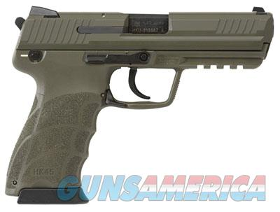 HK45 OD Green Finish Frame and Slide LEM DAO, with three 10rd mags and night sights 745007GGLE-A5  Guns > Pistols > Heckler & Koch Pistols > Polymer Frame