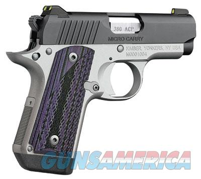 "Kimber Micro Carry Advocate with purple/black grips .380 ACP 3300086 ""FREE SHIPPING""  Guns > Pistols > Kimber of America Pistols"
