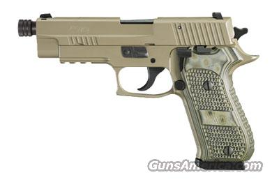 Sig Sauer P220 SCORPION, Elite, Flat Dark Earth Finish, Beavertail, SRT, SLITE, Hogue Extreme G10 Grips---Same as P220 SCORPION above, WITH threaded barrel (.578x28TPI) ***Discontinued***  Guns > Pistols > Sig - Sauer/Sigarms Pistols > P220