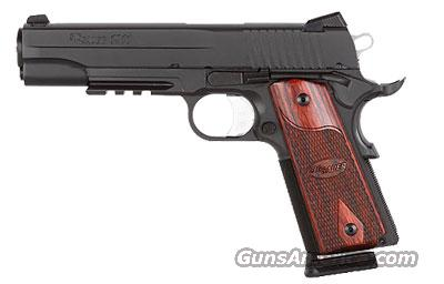 Sig Sauer 1911-FULL-SIZE Black Nitron Finish, M1913 Rail, Low Profile Night Sights, Rosewood Grips  Guns > Pistols > Sig - Sauer/Sigarms Pistols > 1911