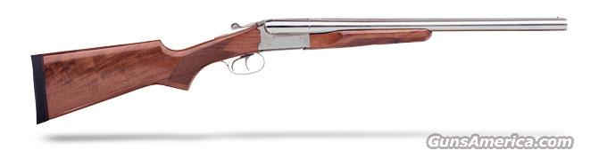 "Stoeger Coach Gun Supreme (DT-EXT) 20"" SxS, AA-Grade gloss walnut, Polished nickel, 12 ga.  Guns > Shotguns > Stoeger Shotguns"