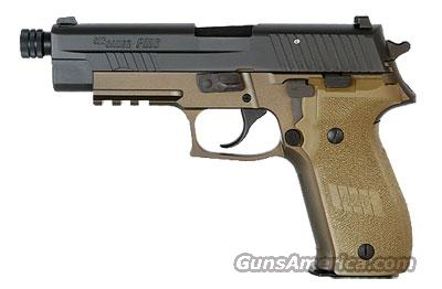 Sig Sauer P226 COMBAT, FDE Frame Finish, Chrome-lined Barrel, SLITE Night Sights, 1913 Picatinny Rail-- WITH threaded barrel (13.5x1mm LH)  Guns > Pistols > Sig - Sauer/Sigarms Pistols > P226