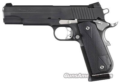 Sig Sauer 1911-FULL-SIZE-fastback NIGHTMARE, Black Nitron Finish, Fastback Rounded Frame, Stainless Controls, Black G-10 Grips  Guns > Pistols > Sig - Sauer/Sigarms Pistols > 1911
