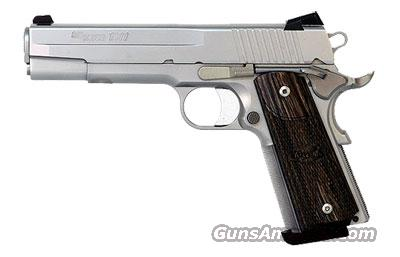 Sig Sauer 1911-FULL-SIZE Stainless Finish, Low Profile Night Sights, Blackwood Grips  Guns > Pistols > Sig - Sauer/Sigarms Pistols > 1911