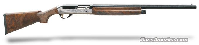 "Benelli Legacy AA-Grade satin walnut, Nickel/blue, Etched game scene 28"" 12ga MPN 10400  Guns > Shotguns > Benelli Shotguns > Sporting"