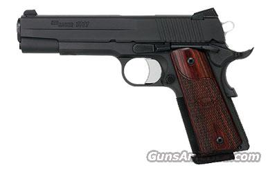 Sig Sauer 1911-FULL-SIZE-fastback Black Nitron Finish, Fastback Rounded Frame, LoPro Night Sights, Rosewood Grips  Guns > Pistols > Sig - Sauer/Sigarms Pistols > 1911