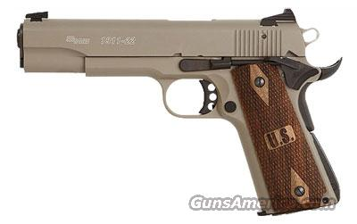 Sig Sauer 1911-22 Flat Dark Earth Finish, Low Profile Contrast Sights, Wood Grips  Guns > Pistols > Sig - Sauer/Sigarms Pistols > 1911