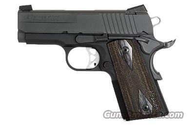 Sig Sauer 1911-ULTRA-Compact Ultra, Nitron Finish, Low Profile Night Sights, 3 Hole Trigger, Rosewood Grips  Guns > Pistols > Sig - Sauer/Sigarms Pistols > 1911