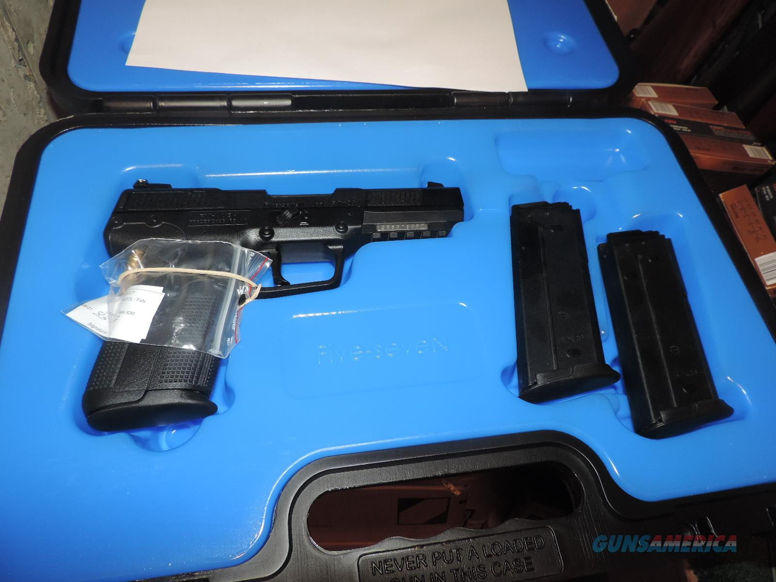 FN 5,7 X 28 PISTOL AND 2000 ROUNDS OF AMMO NEW IN BOX  Guns > Pistols > FNH - Fabrique Nationale (FN) Pistols > FiveSeven