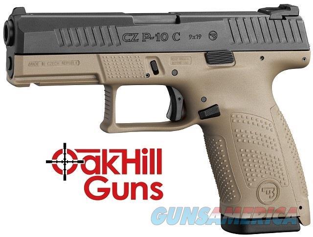 CZ-USA P-10 C 9mm Compact 15 Round Night Sights P10 FDE 91521 *NEW*  Guns > Pistols > CZ Pistols