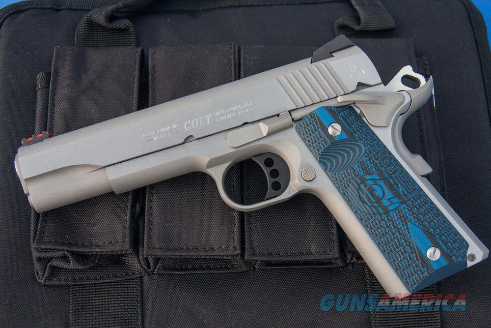 "Colt Competition Series 70 Government .45 acp Stainless 5"" FO G10 O1070CCS *NEW*  Guns > Pistols > Colt Automatic Pistols (1911 & Var)"