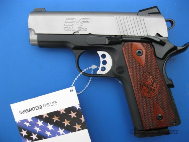 Springfield EMP Bitone 9mm *NEW* 1911 Compact  PI9209LP  Gear Pkg PLUS - 4 Extra Mags, Holster and Mag Pouch  Guns > Pistols > Springfield Armory Pistols > 1911 Type
