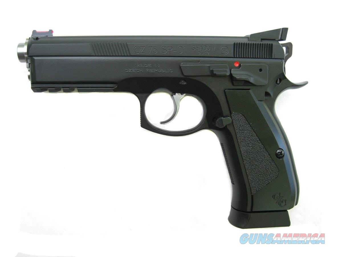 CZ 75 SP-01 ACCU Shadow MATCH Custom CZC Barrel 9mm 3 -18 Rd Mags Fiber Optic 91735  Guns > Pistols > CZ Pistols
