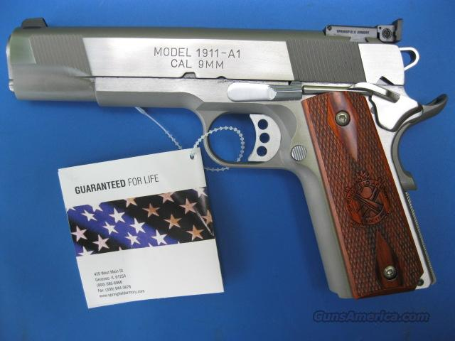 Springfield 9mm Loaded Target 1911 Stainless *NEW* PI9134LCA  PLUS - 4 Extra Mags, Holster and Mag Pouch  Guns > Pistols > Springfield Armory Pistols > 1911 Type