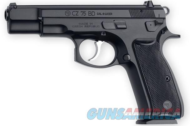 CZ 75BD 9mm Poly Coat 16 Rd Decocker 75 BD 91130 *NEW*  Guns > Pistols > CZ Pistols