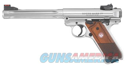 "Ruger MKIV Hunter .22 LR 6.8"" Fluted Stainless 40118 Mark IV *NEW*  Guns > Pistols > Ruger Semi-Auto Pistols > Mark I/II/III/IV Family"