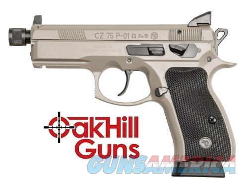 CZ P-01 Omega 9mm Urban Grey Suppressor Ready Threaded NS Compact 16rd 91299 *NEW*  Guns > Pistols > CZ Pistols