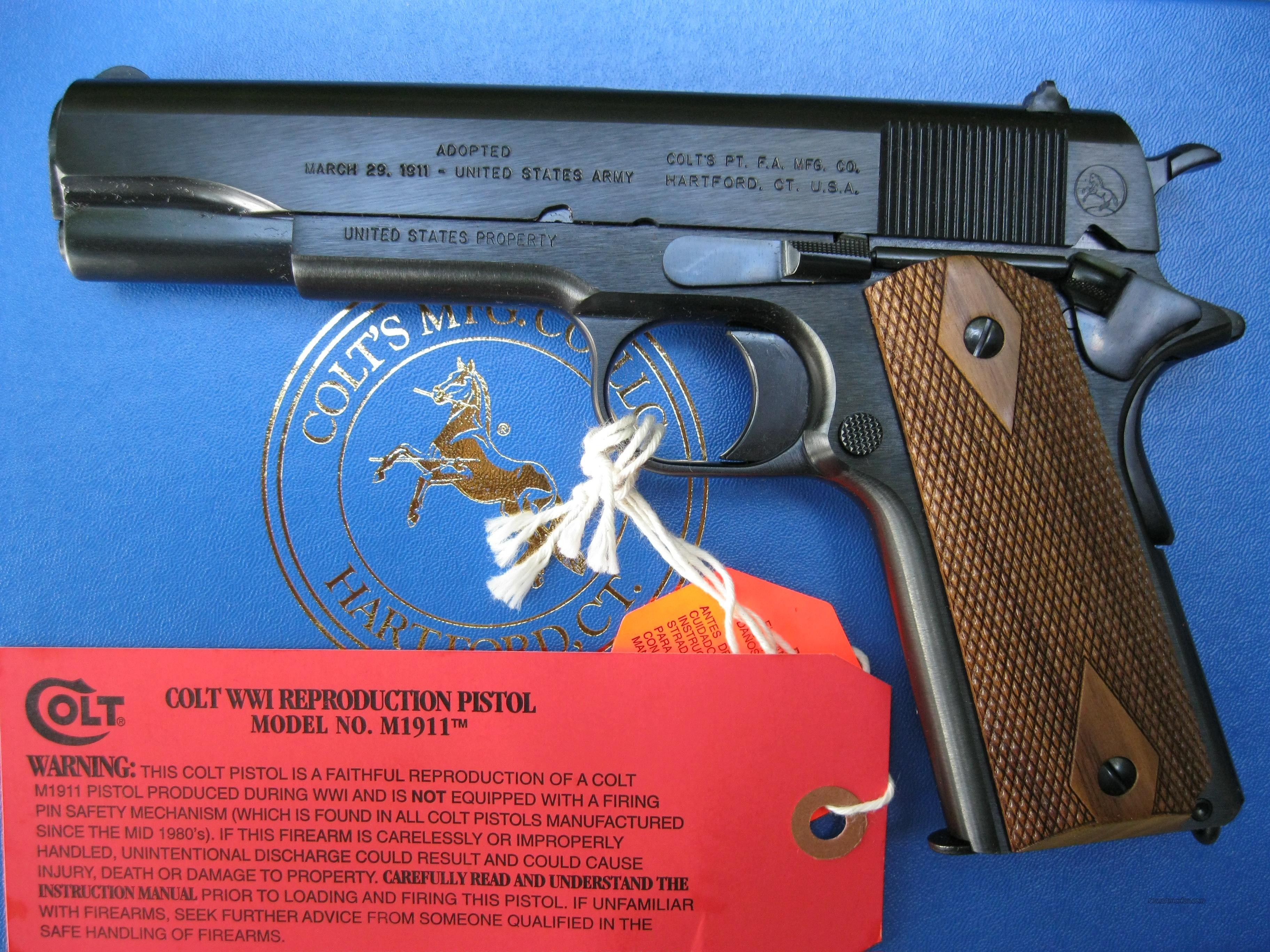 Colt 1911 Anniversary .45 WWI Reproduction 1918 *NEW* 100 Years of Service   Guns > Pistols > Colt Automatic Pistols (1911 & Var)