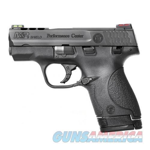 Smith & Wesson Performance Center Ported M&P 9 Shield 9mm HiViz Sights 2 Mags 10108 *NEW*  Guns > Pistols > Smith & Wesson Pistols - Autos > Shield