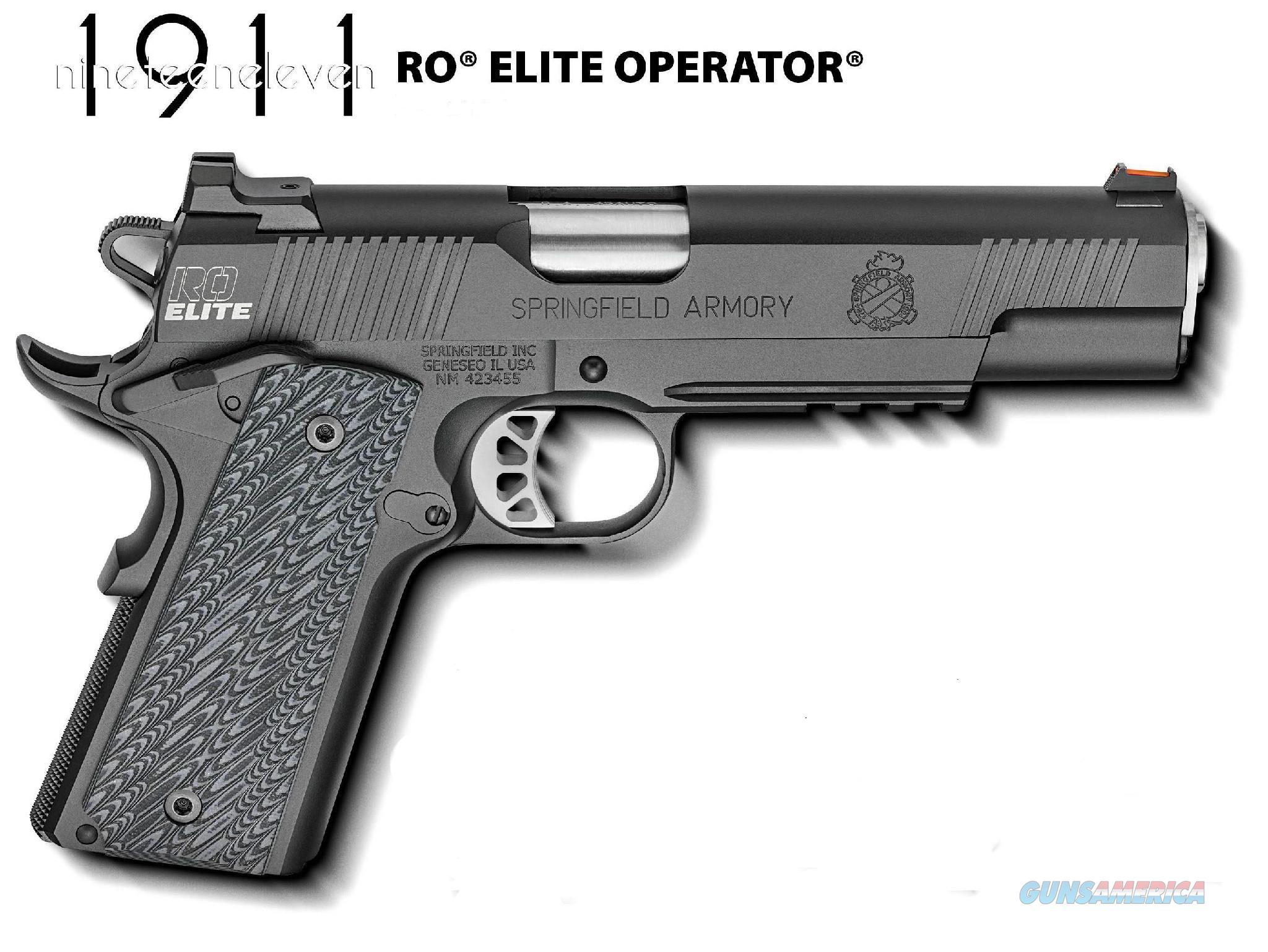 Springfield 1911 RO Elite Operator 9mm  w. Range Bag PI9130E *NEW*  Guns > Pistols > Springfield Armory Pistols > 1911 Type