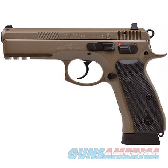 CZ 75 SP-01 9mm FDE 18rd TruGlow Night Sights Tactical Rail 91262 *NEW*  Guns > Pistols > CZ Pistols